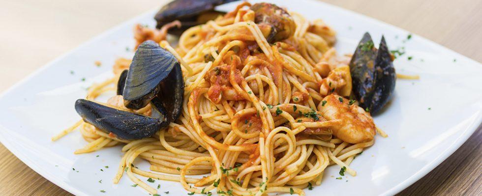 Gli spaghetti allo scoglio con la ricetta light