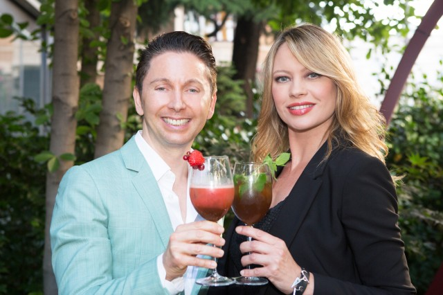 Gianluca Mech e Anna Falchi