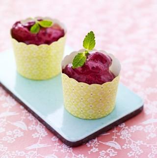 Gelato ai frutti di bosco, senza gelatiera