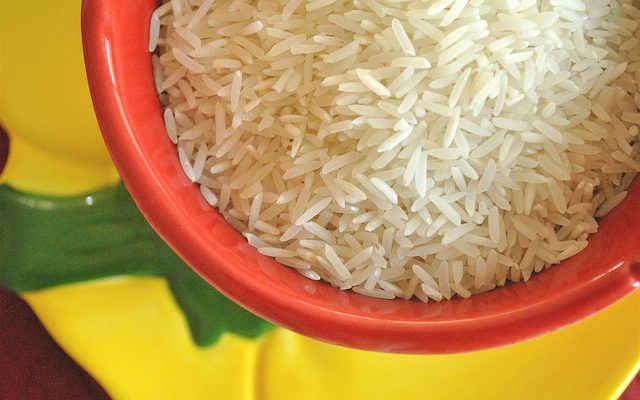 Il riso freddo con pesce spada per un pranzo sfizioso