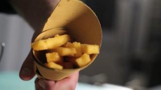 Polenta fritta croccante