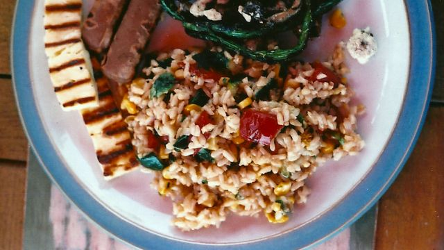 Ecco il riso freddo con verdure light