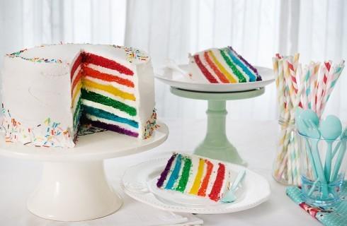 Torta Arcobaleno: colorata e divertente