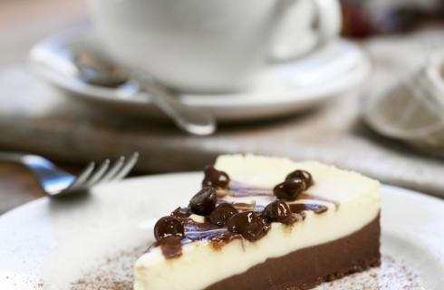 Cheesecake bicolore senza uova