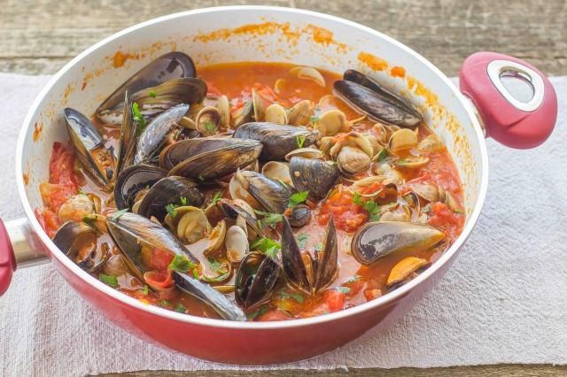Step 3 zuppa ai frutti di mare