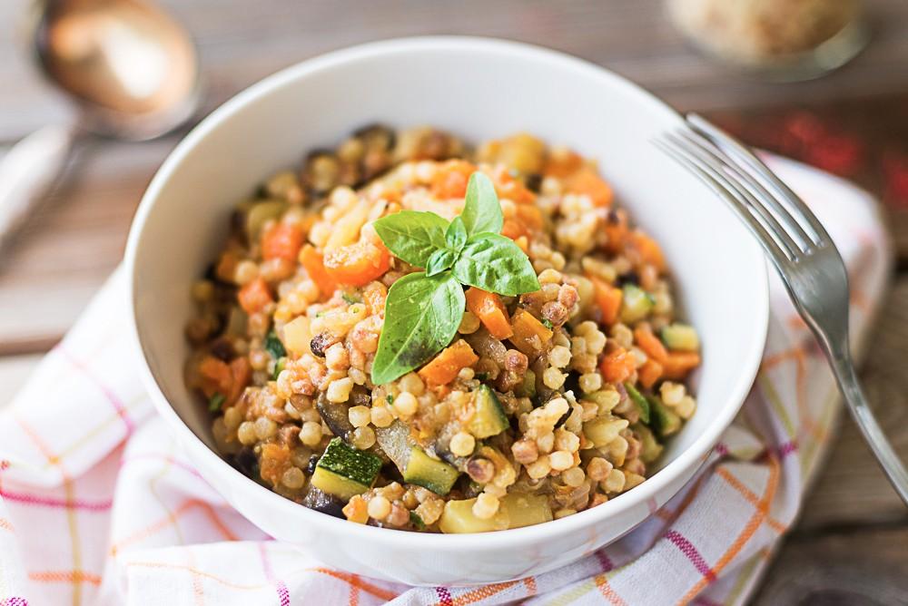 Ricetta fregola con verdure agrodolce for Ricette con verdure