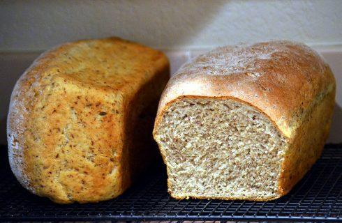 Il pane integrale con la ricetta per la macchina del pane