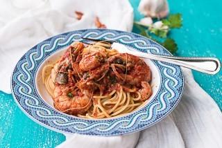 Spaghetti alla triestina con pesce
