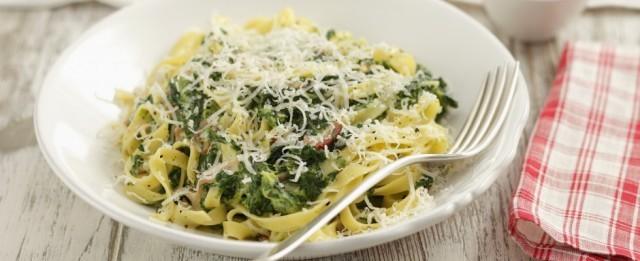 pasta con spinaci