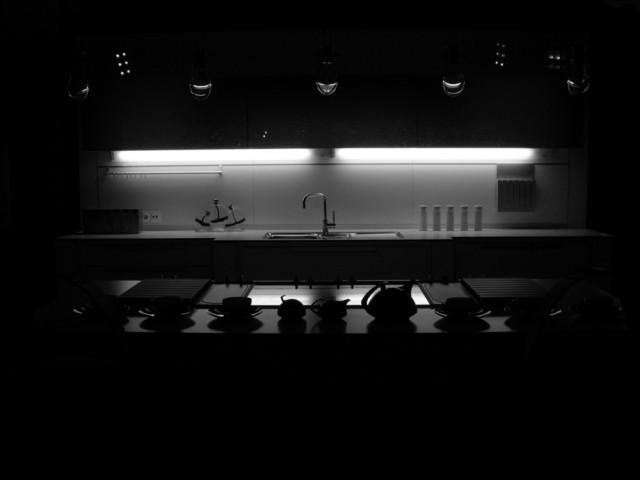 cucina al buio