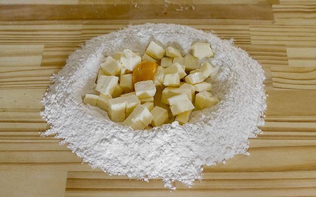 torta di funghi step 1