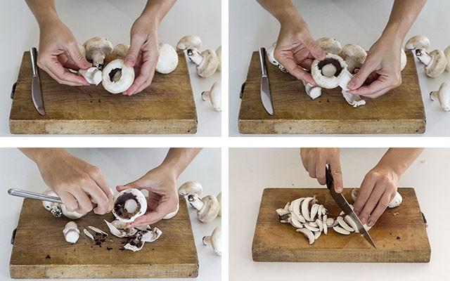 torta di funghi step 3-4-5-6