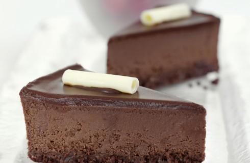 Cheesecake al cioccolato fondente senza glutine