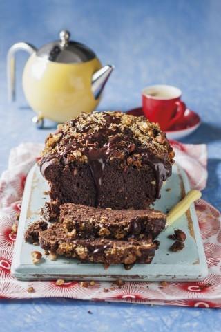Plumcake al cioccolato fondente e nocciole