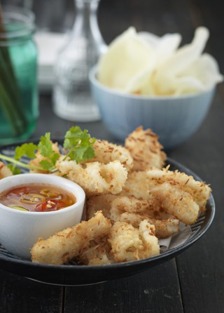 Calamari panati alla giapponese