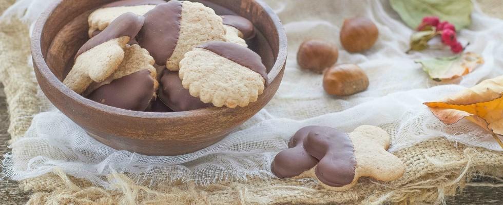 Biscotti con farina di castagne e cioccolato