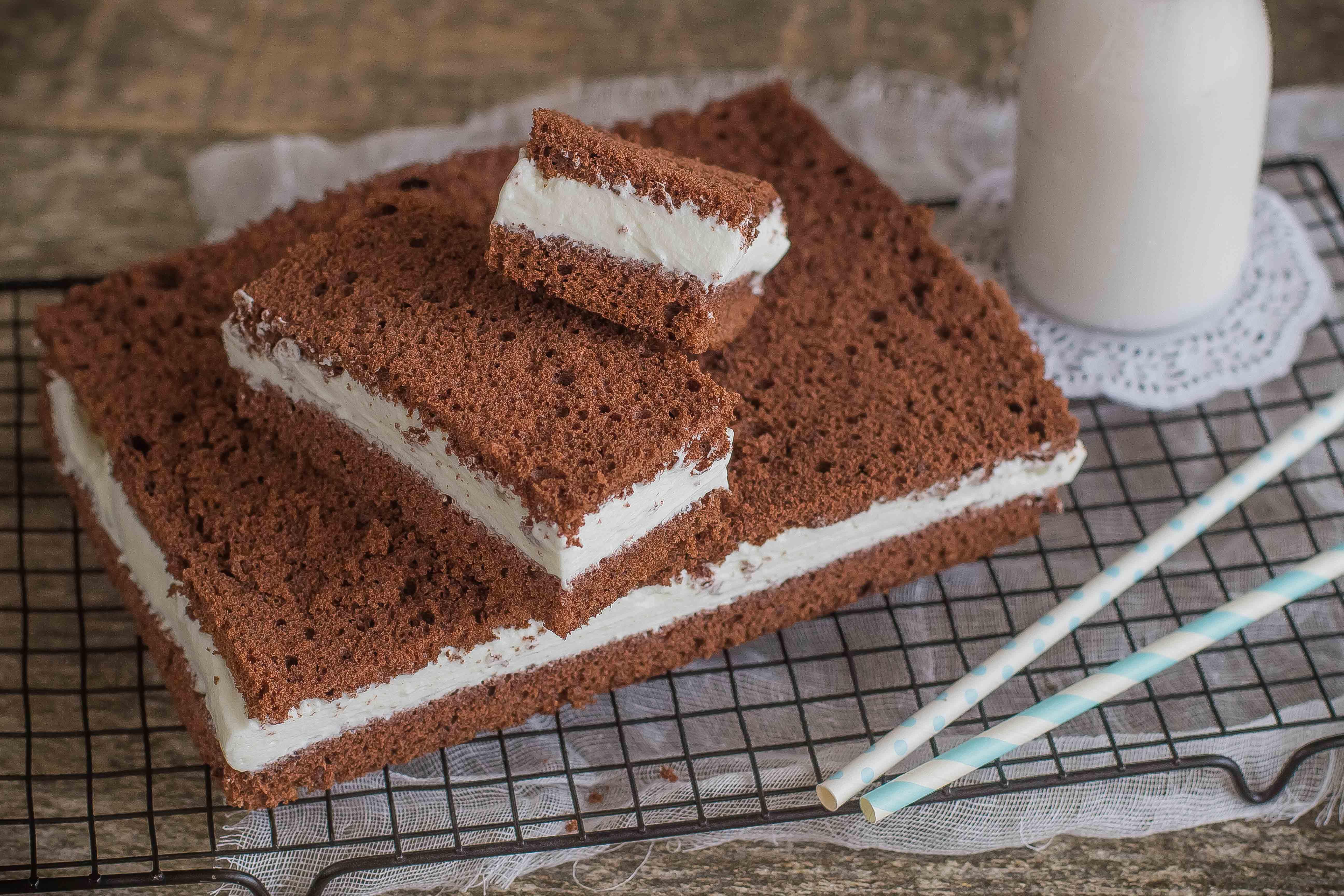 Ricetta torta kinder e fetta a latte