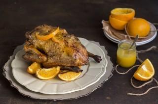 Faraona all'arancia con salsa alla senape