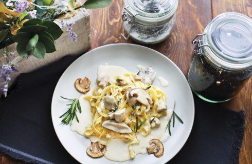 Pasta con crema ai funghi: la ricetta light