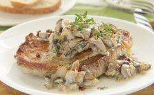 La scaloppine di lonza ai funghi nella ricetta gustosa
