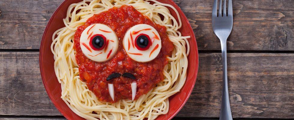 La festa di Halloween per bambini con il menu personalizzato