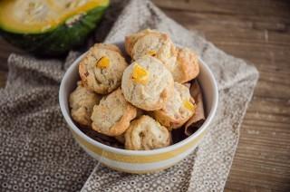 Mini muffin solo albume con zucca e speck