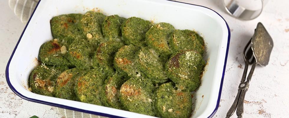 Gnocchi di semolino con spinaci