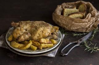 Pollo allo spiedo, fatto in casa