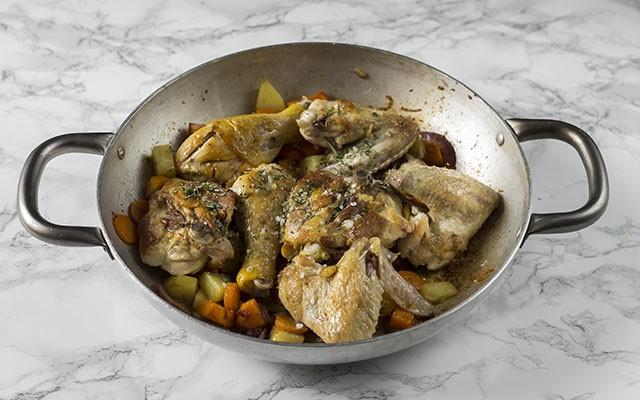 pollo in padella step4