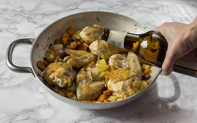 pollo in padella step5
