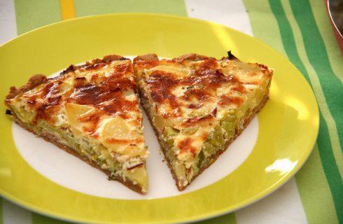 La torta porri e gorgonzola per una cena sfiziosa