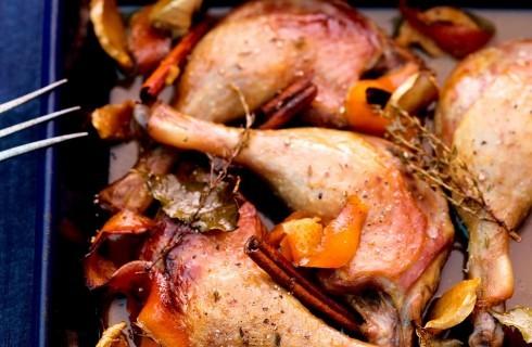 Cosce d'anatra al forno con agrumi