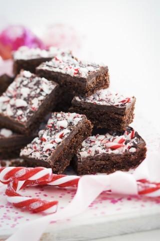 Brownies di Natale: menta e cioccolato