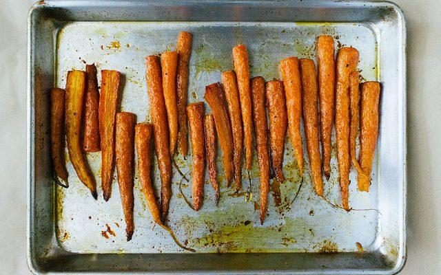 Le carote al forno light perfette per la dieta