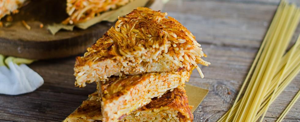 Frittata di pasta al forno: croccante