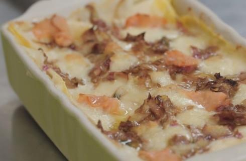 Lasagne ai carciofi e salmone, per le feste