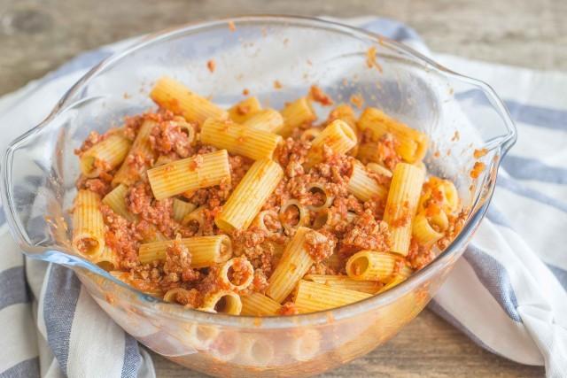 Step 4 pasta al forno alla siciliana