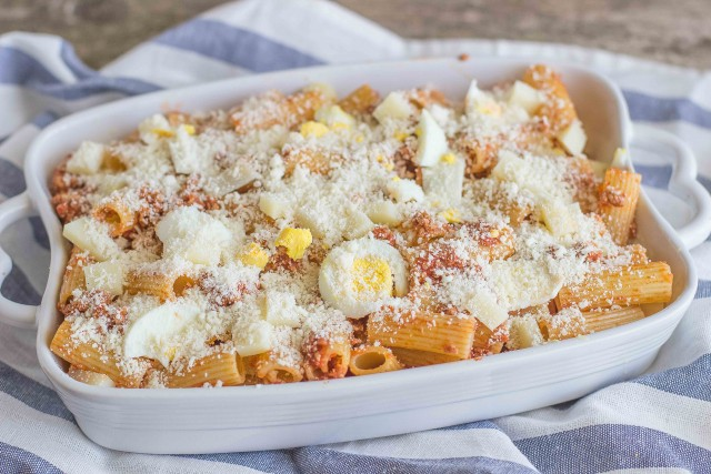 Step 5 pasta al forno alla siciliana