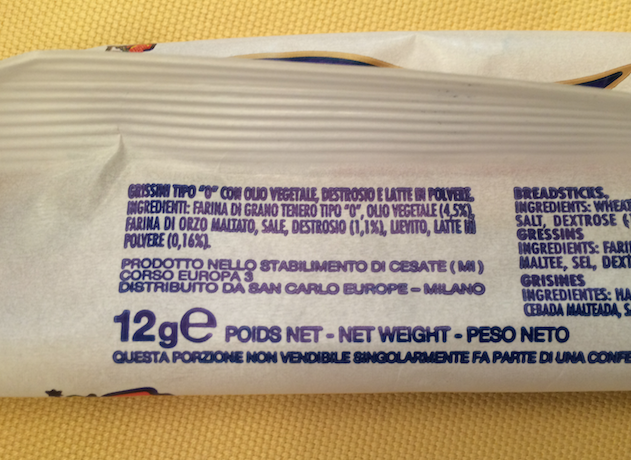 elenco ingredienti etichetta