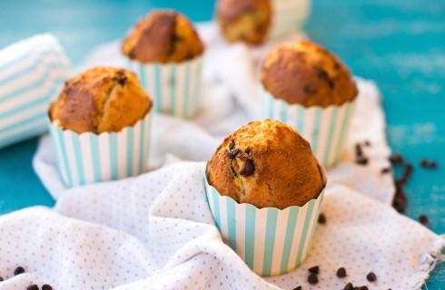 Muffin senza burro con cioccolato e uvetta