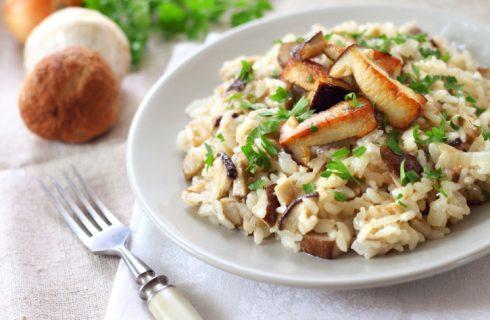 Il risotto ai topinambur e funghi con la ricetta vegetariana
