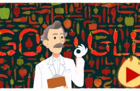 Wilbur Scoville e il Google Doodle che gioca con la Scala di Scoville