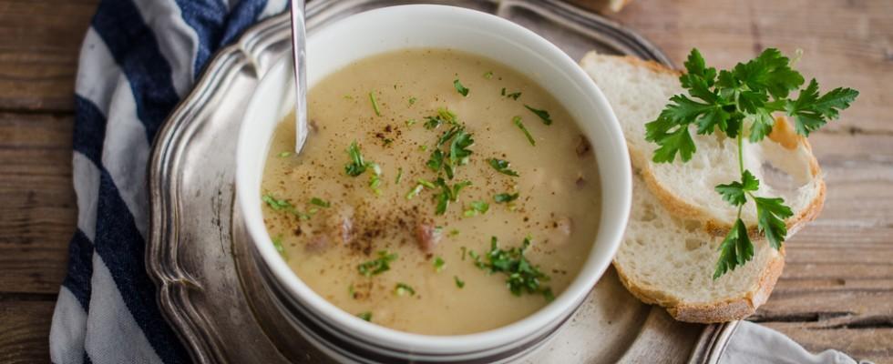 Zuppa di patate e pancetta