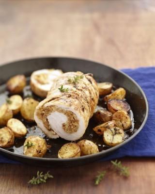 Rollè di pollo funghi e nocciole