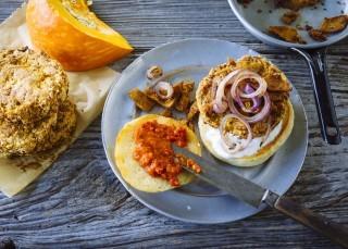 Hamburger vegano: invitante