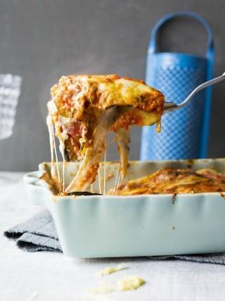 Lasagna con melanzane, vegetariana