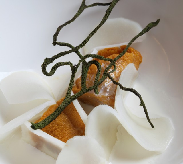 Sea Urchin and bitter almond