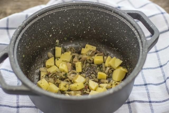 Step 3 zuppa di farro e fagioli
