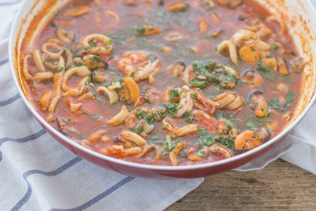 Step 4 lasagne ai frutti di mare