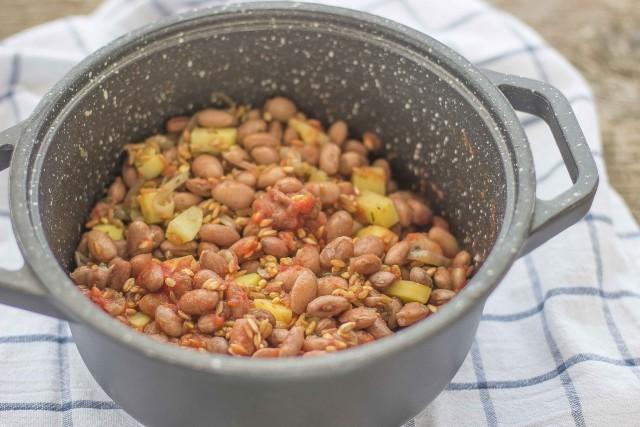 Step 4 zuppa di farro e fagioli